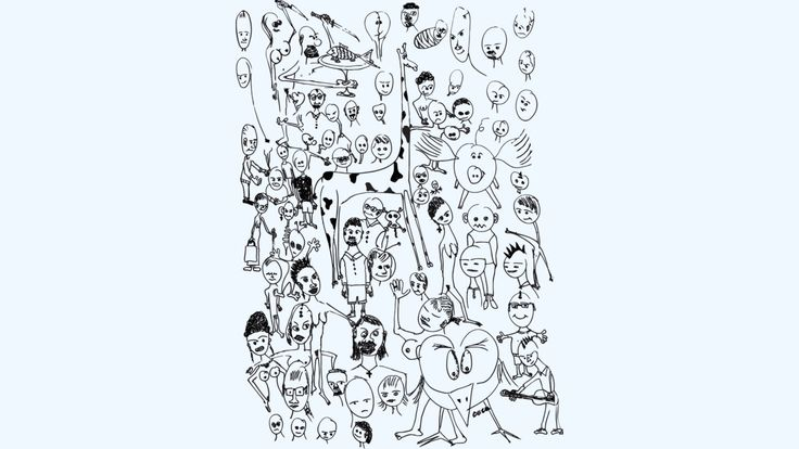people is an Art Print designed by ElArrogante to illustrate your life and is available at Design By Humans