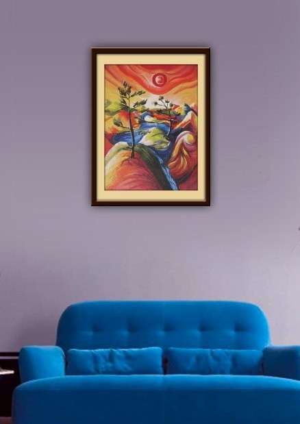 A Modern Art Landscape painting for you to give a chic, contemporary and stylish, yet natural feel to your interiors!     http://www.gloob.in/painting/modern-art-landscape.html