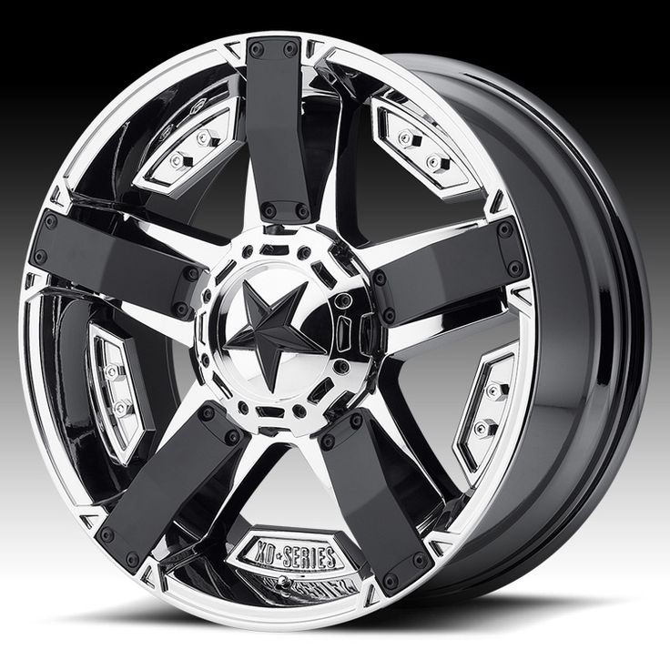 KMC XD Series XD811 RS2 Rockstar II Chrome PVD Custom Wheels Rims