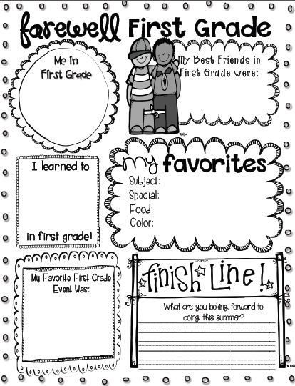 Free farewell printables - grades K - 4 included from a link in this blog post
