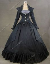 Gothic Victorian Ball Gown Dress Jacket Reenactment Halloween Costume 167 L