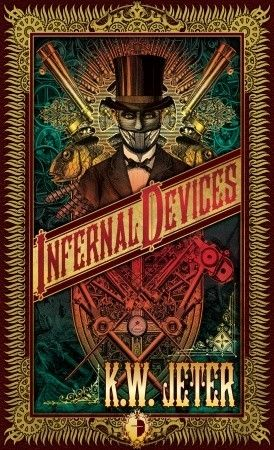 "Infernal Devices by K.W. Jeter~ ""steampunk"" was coined in the late 1980s, when author K. W. Jeter used it humorously to describe a grouping of stories set in the Victorian era written during a time when near-future cyberpunk was the prevailing form of science fiction."