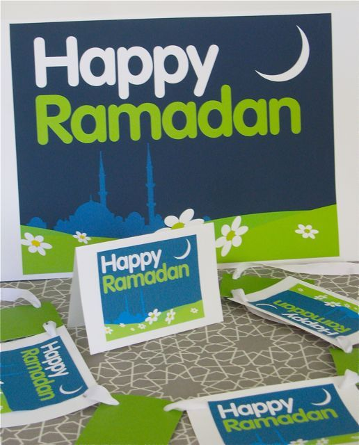 Download Peter Gould's free 'Happy Ramadhan' poster, print it on sticker paper and create a card with your little one. Don't forget to include a picture of the family inside. - Bajou Studio