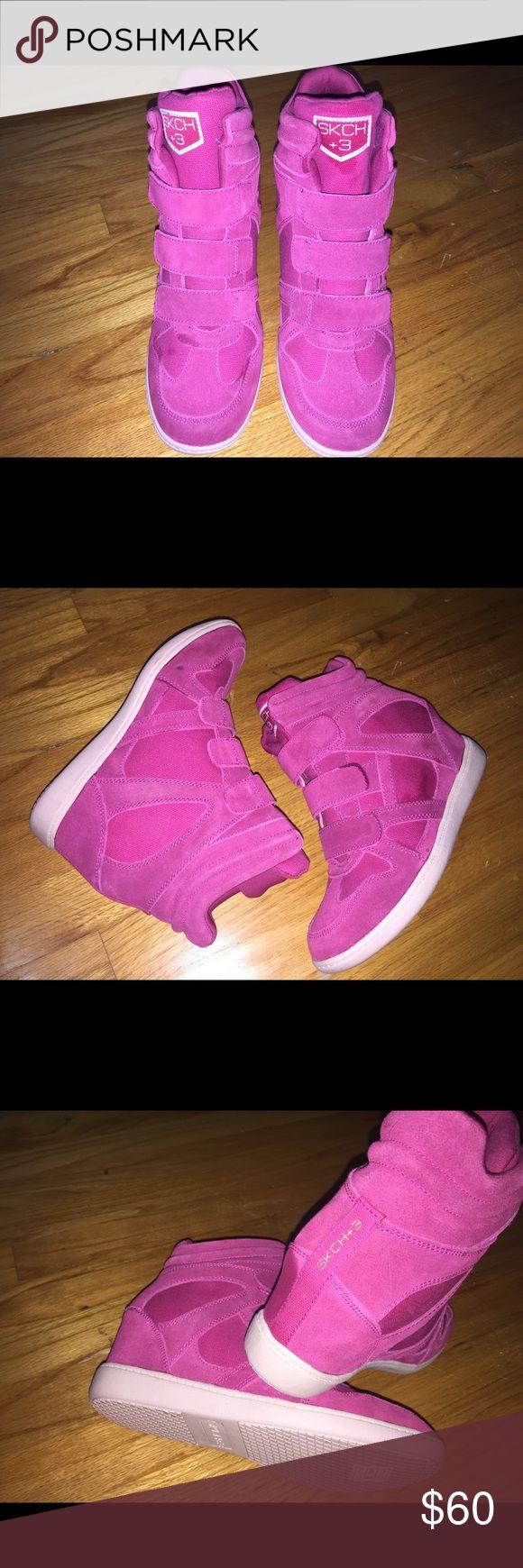 SKCH+3 wedge sneakers New!! Tagged nike for exposure Skechers Shoes Sneakers