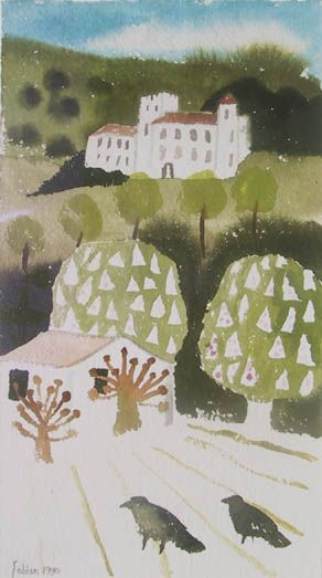 Mary Fedden   Two Crows