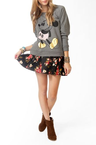 Forever 21 Contrast Mickey Mouse Pullover, $22.80 - for kids bday parties!