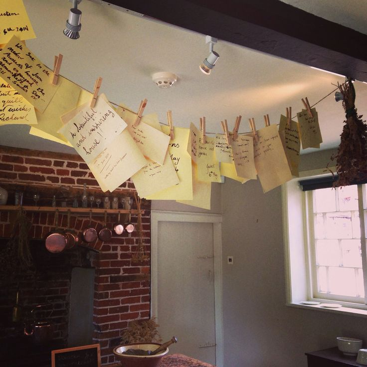 Notes to Jane Austen at Chawton house museum in Hampshire