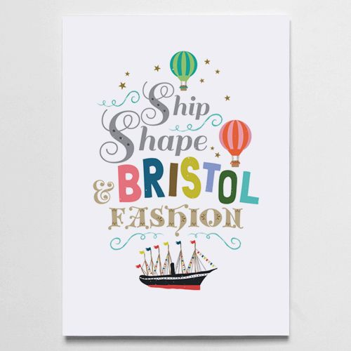 11 best bristol art prints by papier beau images on pinterest ship shape bristol fashion is a print reproduced from my original digital illustration reheart Image collections