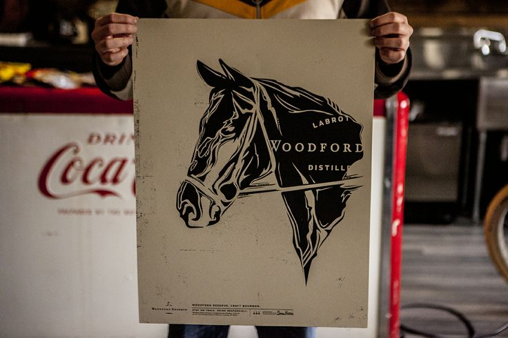 Woodford Reserve Kentucky Derby limited edition print, designed by Jake Houvenagle