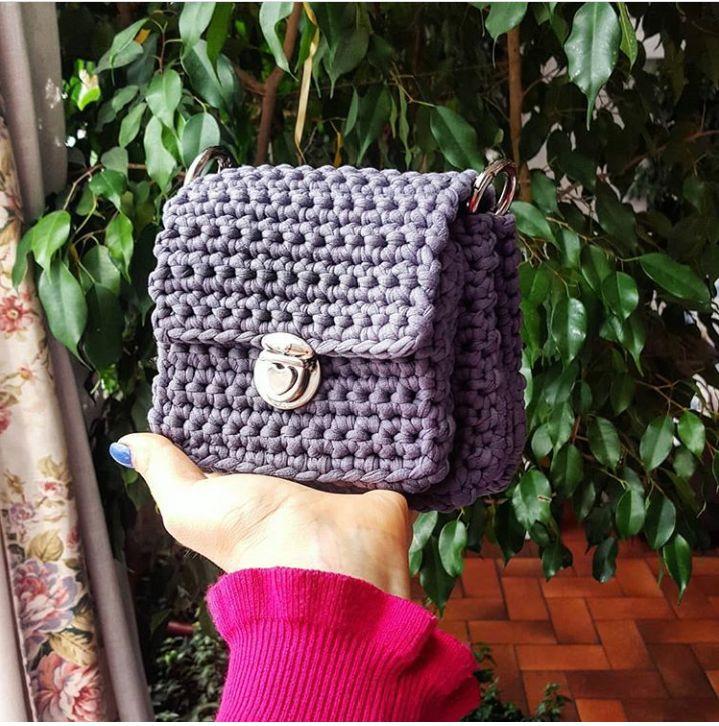 Bolsa de Crochê: Muita inspiração e Passo a Passo em 2020 (com imagens) | Bolsa de crochê, Bolsas, Quadrados de croche