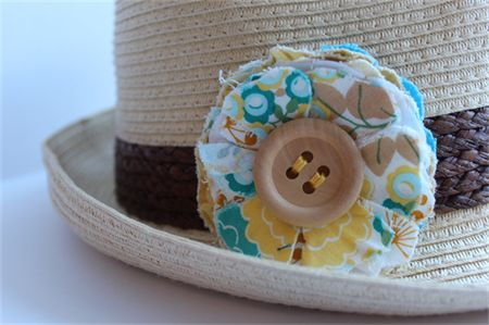 A gorgeous handmade flower brooch to pin to your hat this summer.