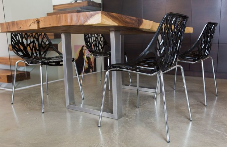 Check out our absolutely beautiful Black Birch Chairs set of four right here on our website: www.urbanmod.net