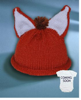 Every little cub should keep warm   in one of our cute little fox hats.