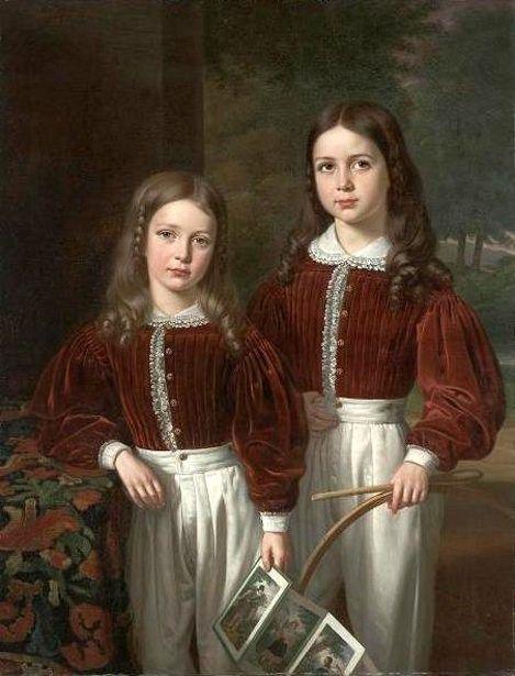 Jean Joseph Vaudechamp (French-born New Orleans artist, 1790–1866) Two Children