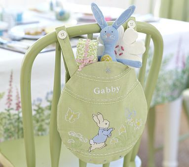 easter peter rabbit chairbacker $25...  My kids have all the PBK chairbackers for every holiday.Charlie's Easter one looks like this.