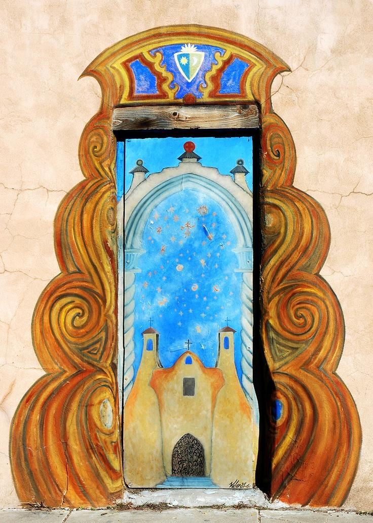 door in Santa Fe