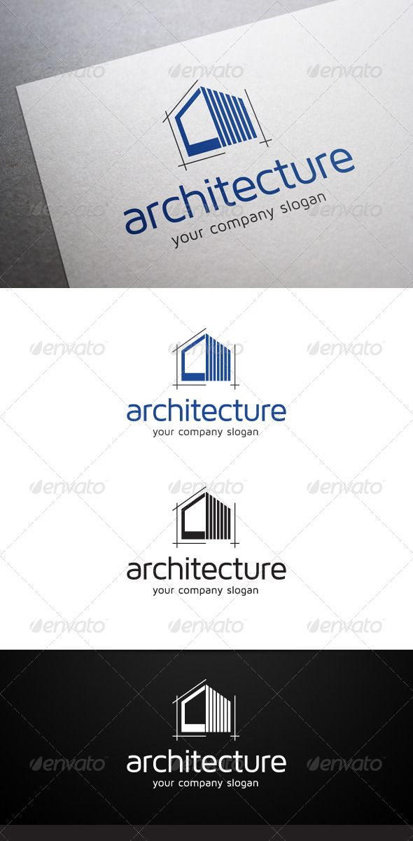 Architecture Logo  -  EPS Template • Only available here! →…
