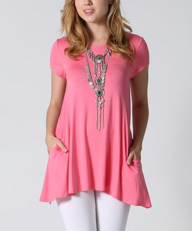 Another great find on #zulily! Coral Side Pockets Swing Tunic by 42POPS #zulilyfinds