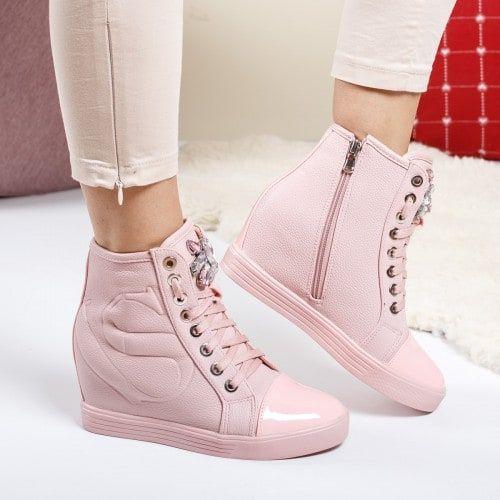 Ghete Dama Danez Maro Cu Catarame Haine Ieftine Top Sneakers Wedge Sneaker Shoes