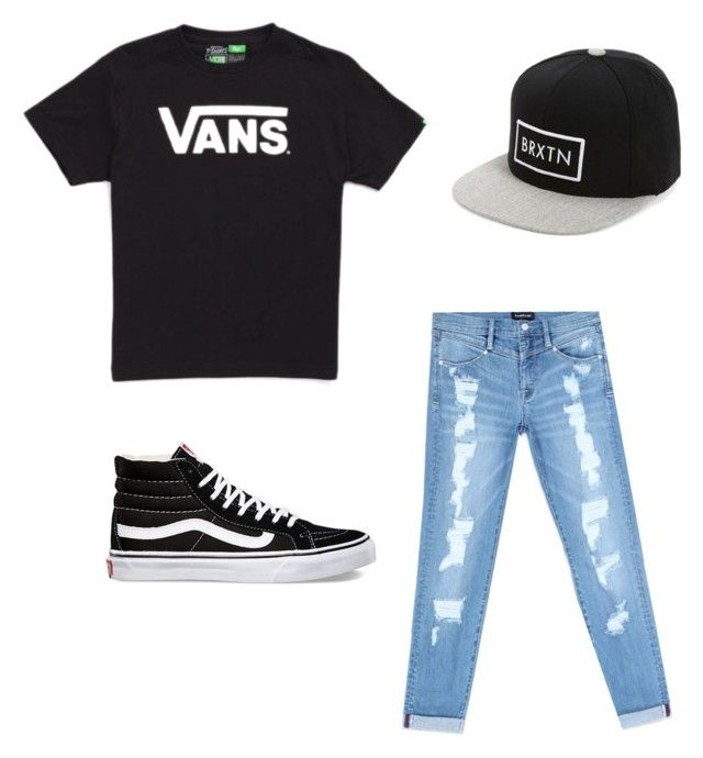 """""""vans tomboy"""" by anissa-c on Polyvore featuring Vans, Bebe and Brixton"""