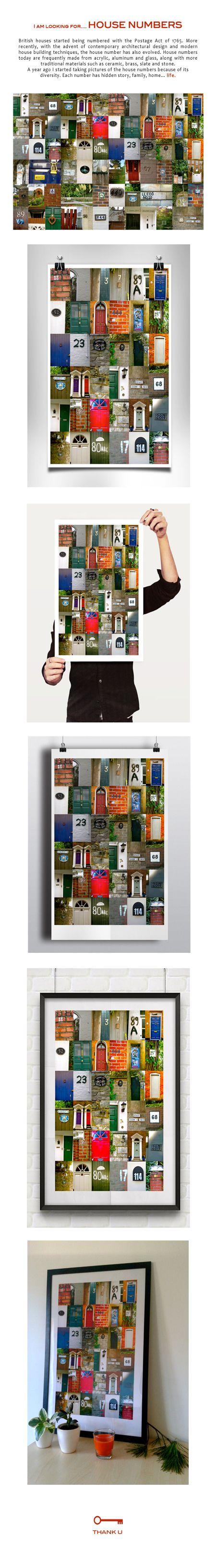 House Numbers by Iv. Slosarova, via Behance