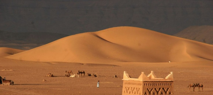 The private Marrakech desert tour to Zagora and Tinfou dunes example 2 days itinerary is for you if you don't have enough time and you want badly visit the desert.