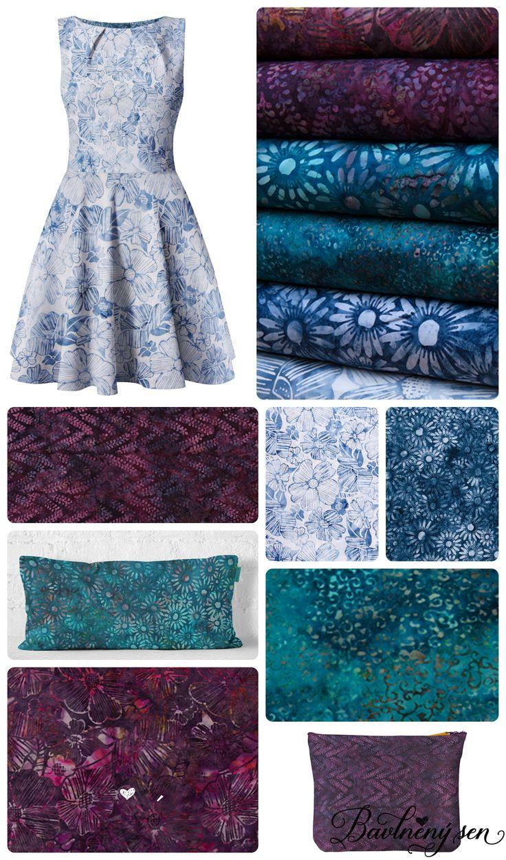 Kolekce Bali batik modrofialová