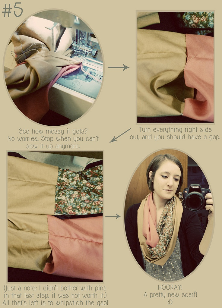 DIY: patchwork infinity scarf. im begging my dad to let me bring