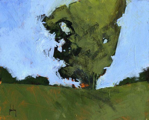 Semi-abstract landscape original painting  by PaulBaileyArt