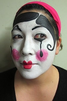 Mime face painting.