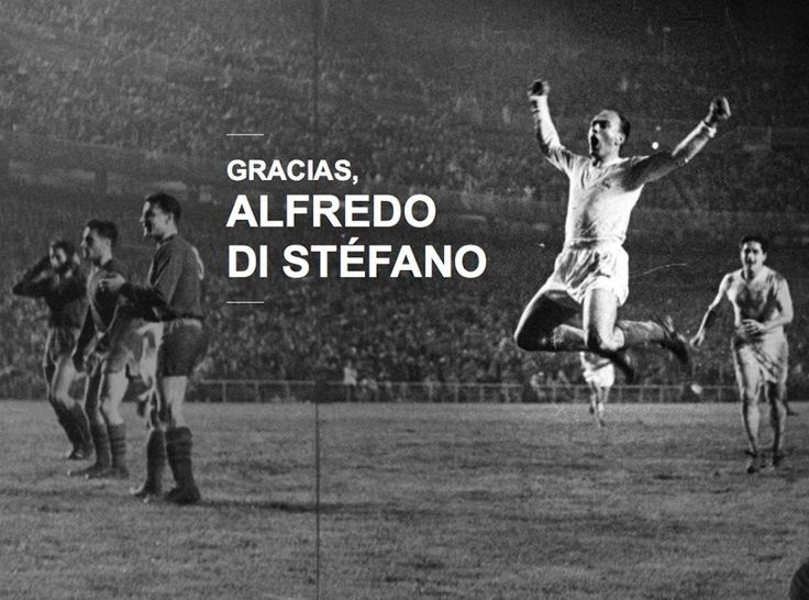 Don Alfredo Di Stefano, the greatest player to play for Real Madrid and footballs first great, rest in peace dear legend!