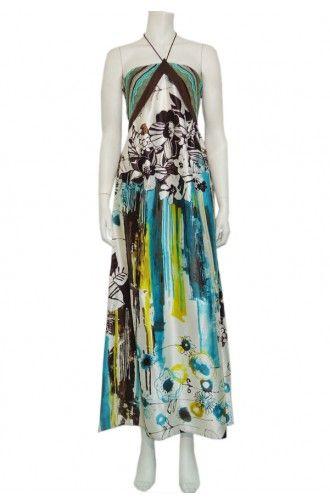 """Φόρεμα maxi δετό σε εμπριμέ σχέδιο """"InTraxzap"""""""