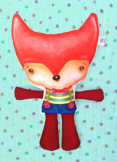 Muñeco Zorro - Fox doll de JessicaIlustradora en Etsy