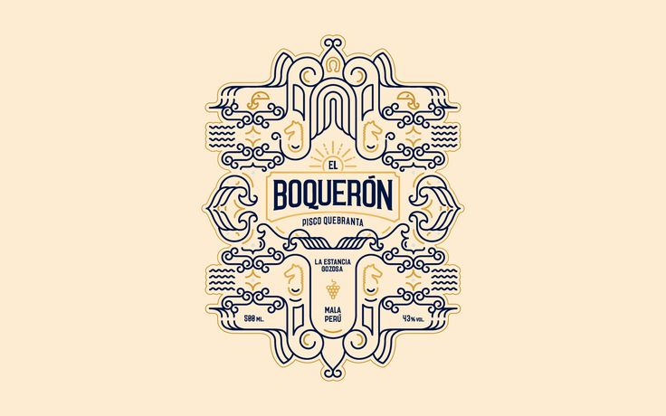 El Boqueron Pisco Quebranta Peruvian Brandy — The Dieline - Branding & Packaging Design