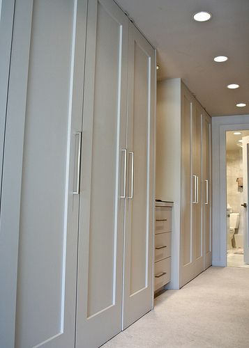 Simple Contemporary Shaker Style with Stainless Steel Handle - Wardrobe Inspiration