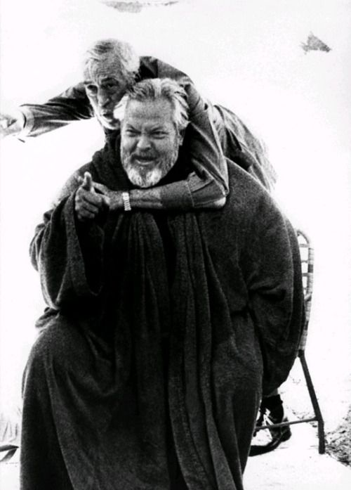 John Huston and Orson Welles]