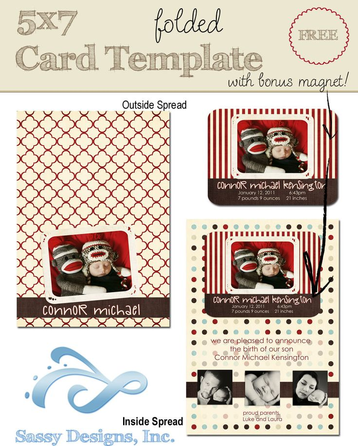 free 5x7 card template