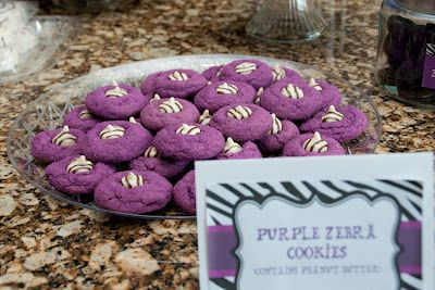 Purple kiss cookies|   The Sweatman Family: Reese's Purple Zebra 3rd Birthday Party