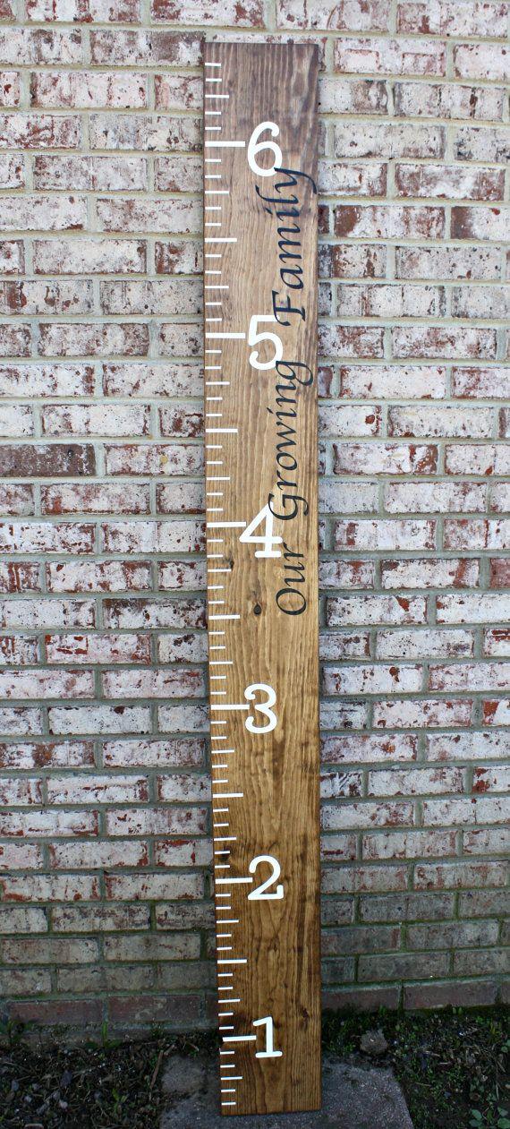 Kids Ruler Personalized Kids Growth Chart by JandBDownHomeDigs