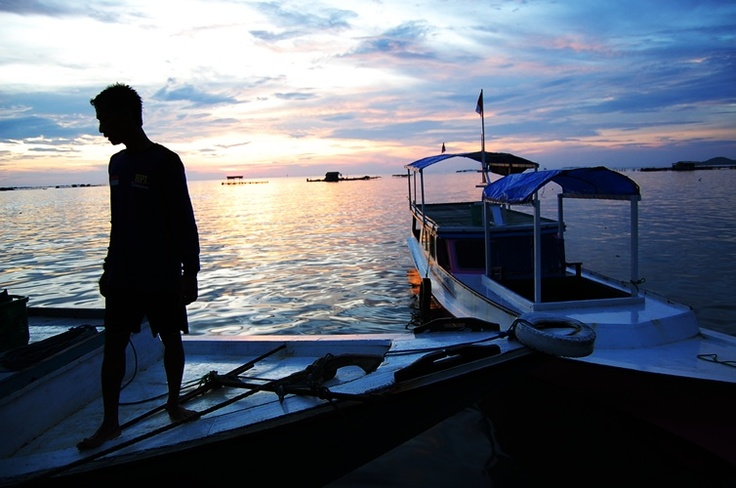 sunset, Karimun Jawa Island, Indonesia.
