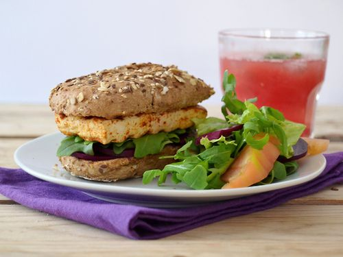 Tofu Sandwich with Pickled Beets and Arugula   Marinated tofu Juice of ½ lemon250g firm tofu½ tsp red chilli powder¼ teaspoon cayenne pepper½ teaspoon cumin2 tablespoons olive oil1 tablespoon tea honey (or other sweetener)Pinch of salt Drain the block of tofu and wrap in a kitchen towel, place two dishes over the tofu and let it sit like that for 20-30 minutes.Cut the block into 4 equal slices.Add the marinade ingredients in a Tupperware with the slices and let the tofu absorb the…