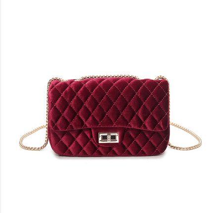 Great Buy $16.32, Buy 2017 Women's Velvet Handbag Messenger Bag lady Contracted Cross body Shoulder Bags Small Mini Casual Satchel Purses