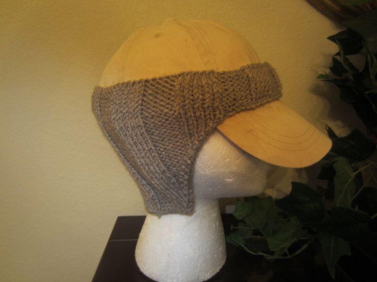 Grey Hand-Knit Baseball Cap Ear Warmers by VioletsKnitwear on Etsy https://www.etsy.com/listing/264935072/grey-hand-knit-baseball-cap-ear-warmers