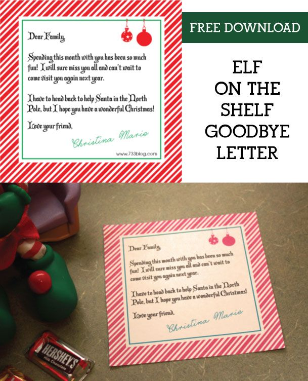 It is a graphic of Gargantuan Printable Elf on the Shelf Goodbye Letter