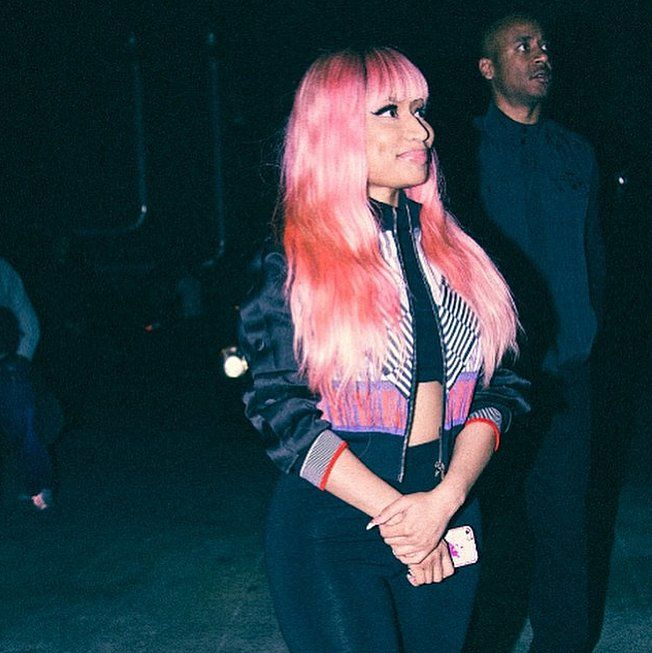"""For her video for """"The Night Is Still Young,"""" Nicki Minaj proved she's still an original pioneer of rainbow-bright hair."""