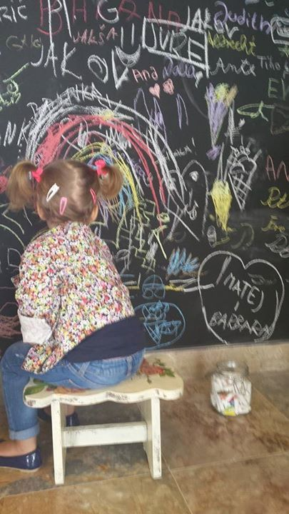 Kids love our wall of art.