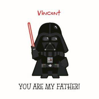 You are my father! #Hallmarkbe #Hallmark #Vaderdag #papa #vader #pa #Starwars