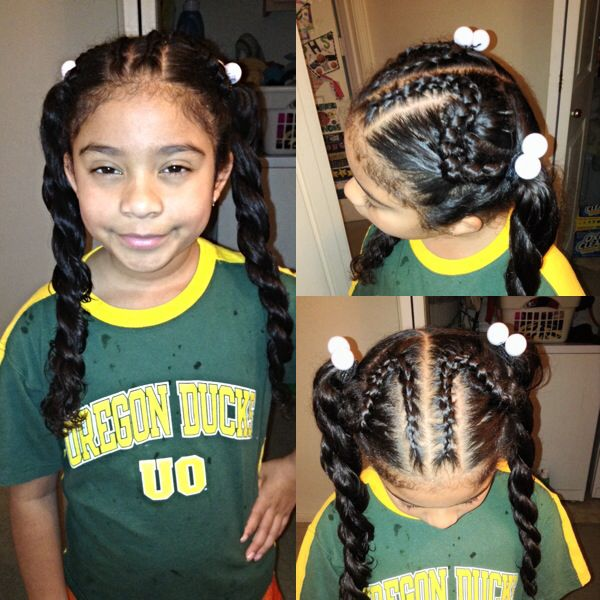 Admirable Black Girls Braids And Ponies On Pinterest Hairstyles For Women Draintrainus