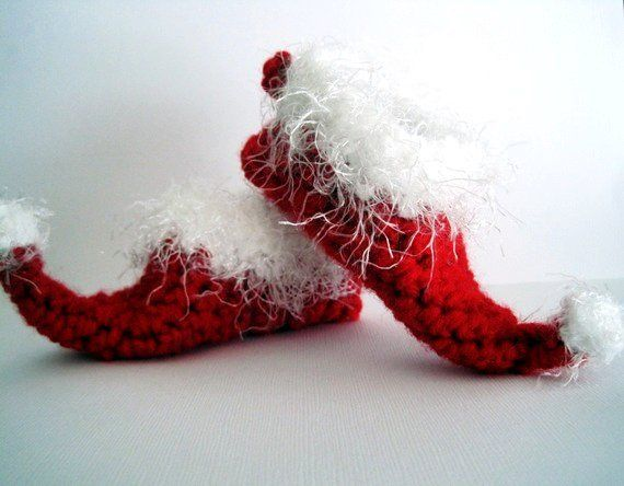 Knitting Pattern For Elf Slippers : 3927 best christmas knitting and crochet patterns images ...