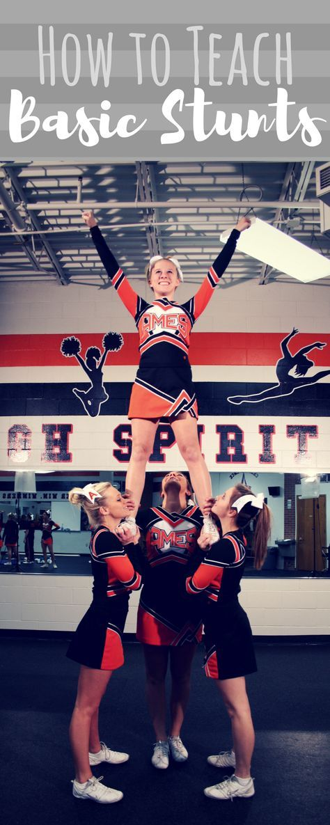 Cheerleading stunts. Basic stunts for young/inexperienced squads and coaches. Preps and cradles. Cheer coach. Stunting instruction. Training video!